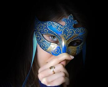 infertility pic   woman with mask
