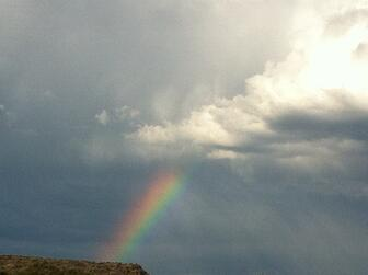 rainbow and clouds for infertility support from ladies night in