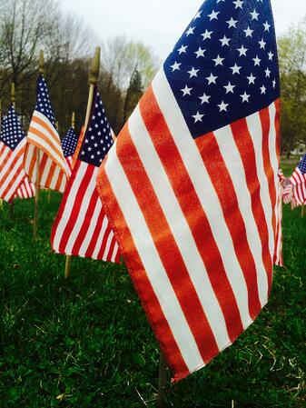 american flags for memorial day heroes
