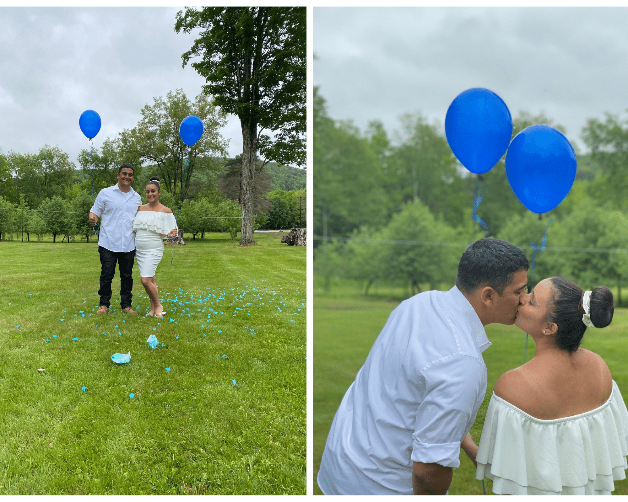 A gender reveal for twins