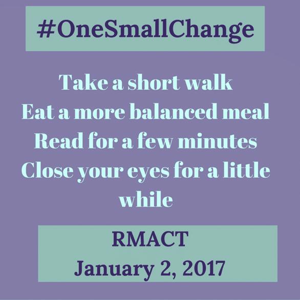January 2 2017 #OneSmallChange.png