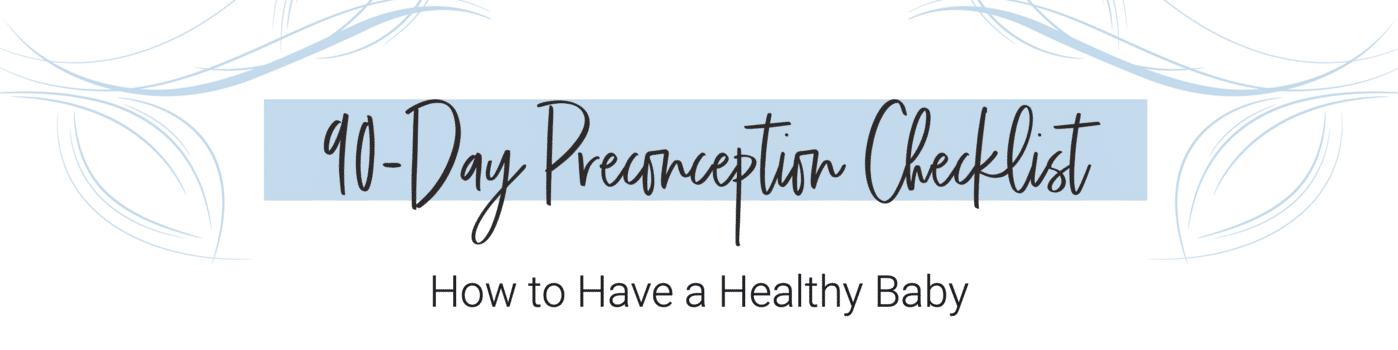 90-day preconception checklist