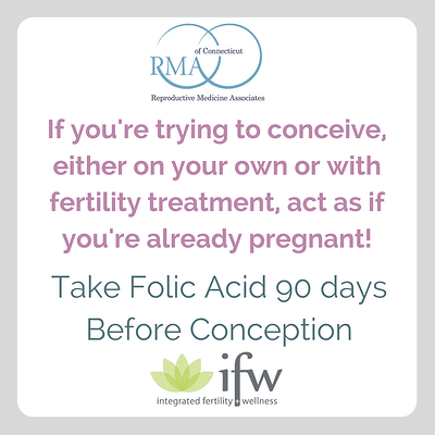 Take folic acid 90 days before conception